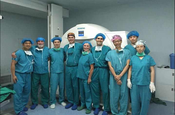 Photo of UK HealthCare's Craig van Horne and his team