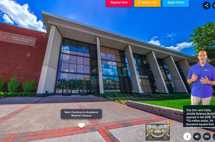 screen shot of virtual tour