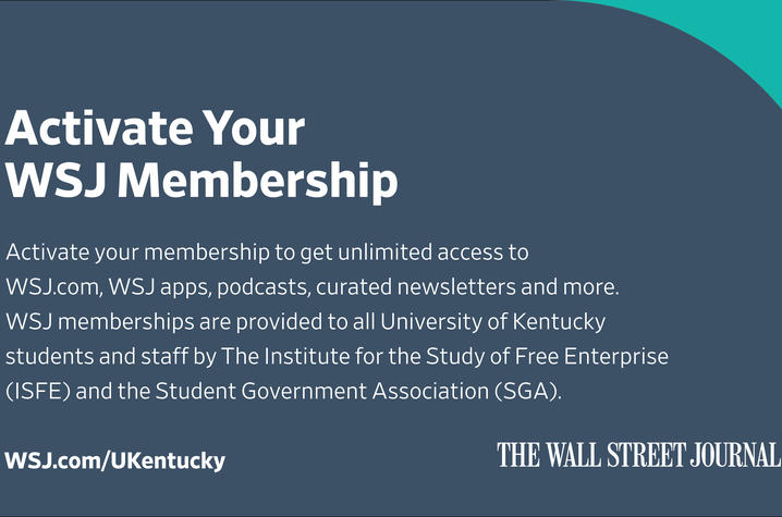 graphic that says: Activate your membership to get unlimited access to WSJ.com, WSJ apps, podcasts curated newsletters and more.