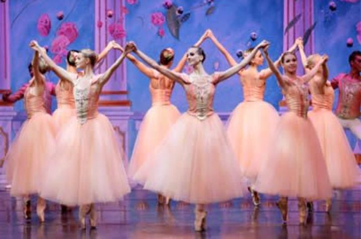 """photo of ballerinas performing """"Waltz of the Flowers"""" from """"Nutcracker"""""""