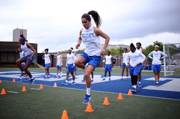 Women's Basketball strength training workout | Photo courtesy UK Athletics