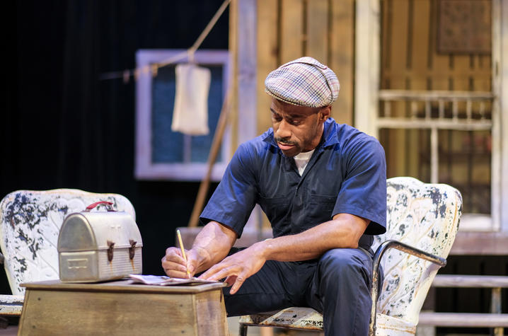 """photo of Whit Whitaker in """"Fences"""" presented by AthensWest"""