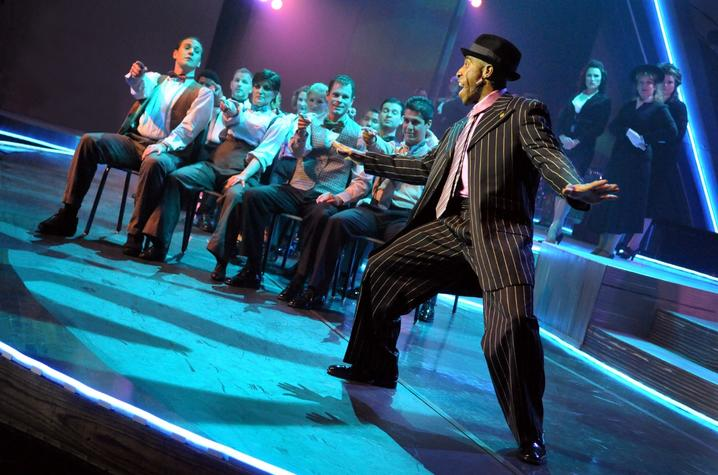 """photo of Whit Whitaker performing in """"Grand Night"""""""