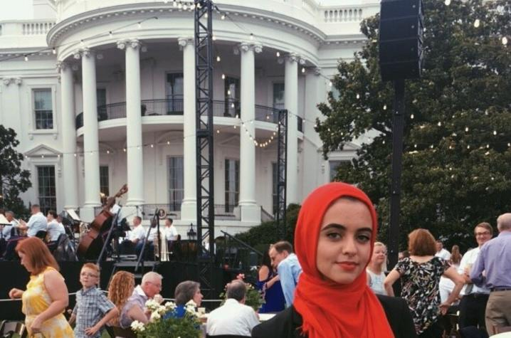photo of Hadeel Abdallah at White House event
