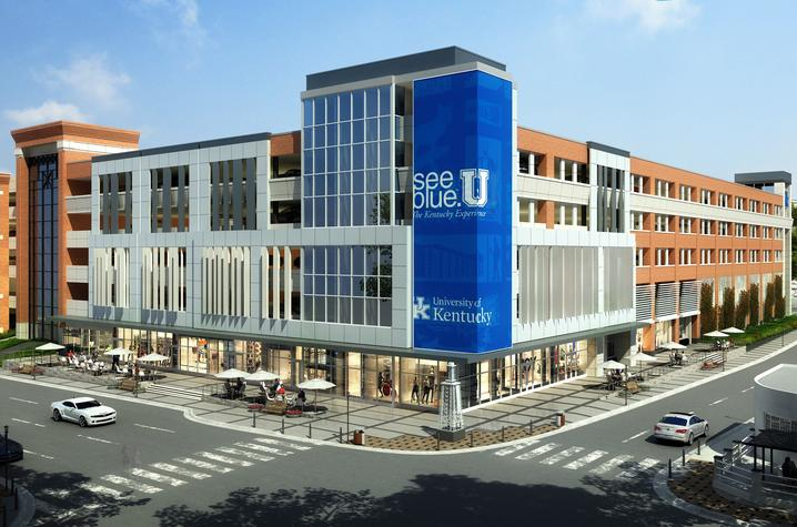 rendering of new facility planned at Winslow Street and South Limestone