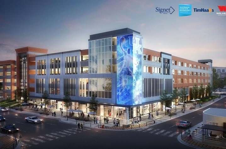 Night rendering of new facility planned at Winslow Street and South Limestone