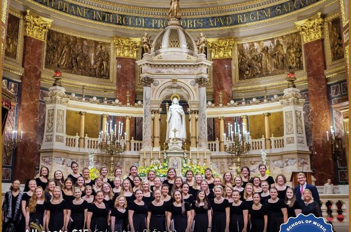 photo of poster for November UK Women's Choir concert