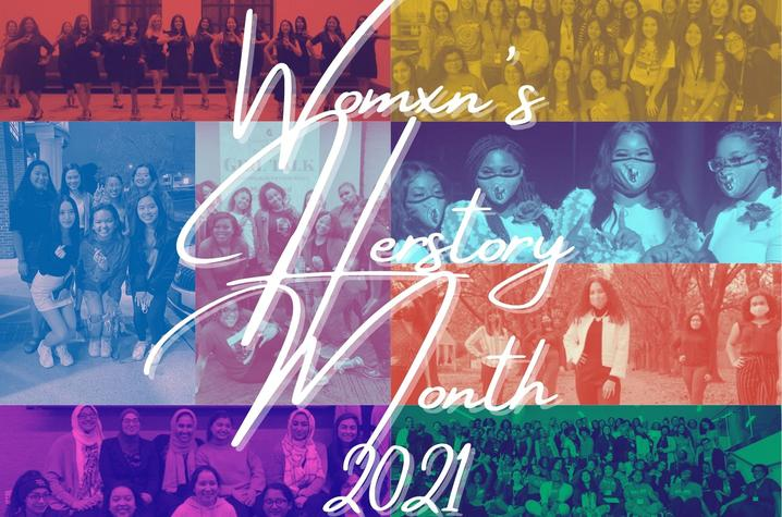 image of poster for UK 2021 Womxn's Herstory Month
