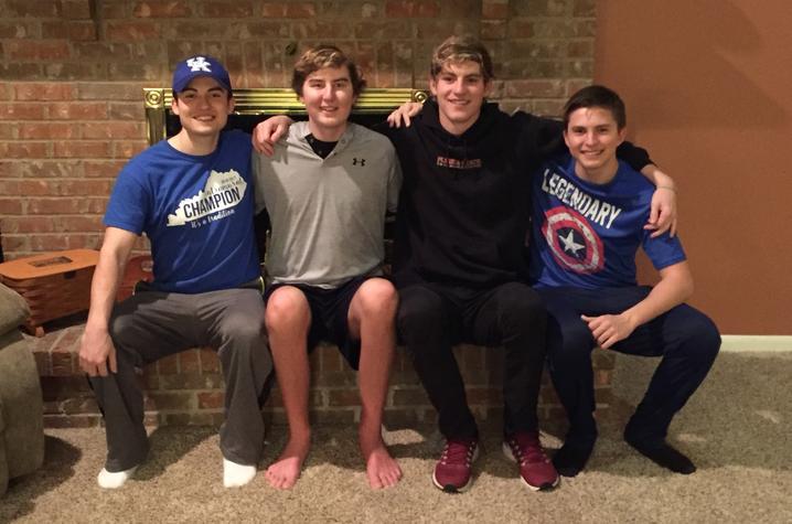 Zach Major, Kayne Finley, Keagan Finley, and Austin Major