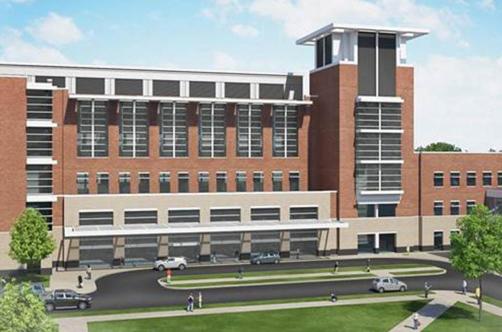 Rendering of proposed advanced ambulatory and cancer complex.