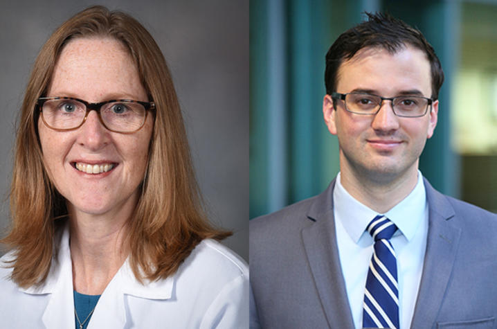 COVID-19 clinical trial principal investigators Dr. Susanne Arnold, associate director of clinical translation at the UK Markey Cancer Center and Dr. Zachary Porterfield, assistant professor of Microbiology, Immunology & Molecular Genetics.