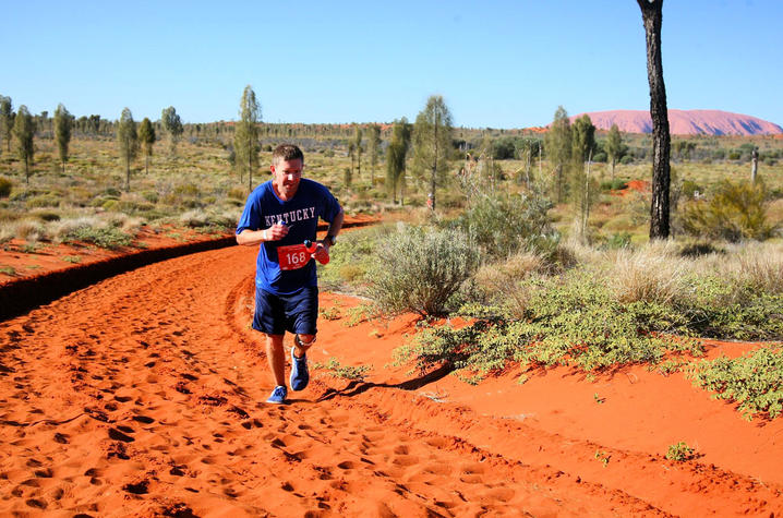 This is a photo of UK Alumnus Jason Darnall Running in Australia