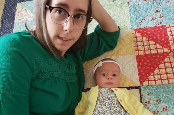 """photo of Megan Lucy and baby Cecilia - """"In This Together"""
