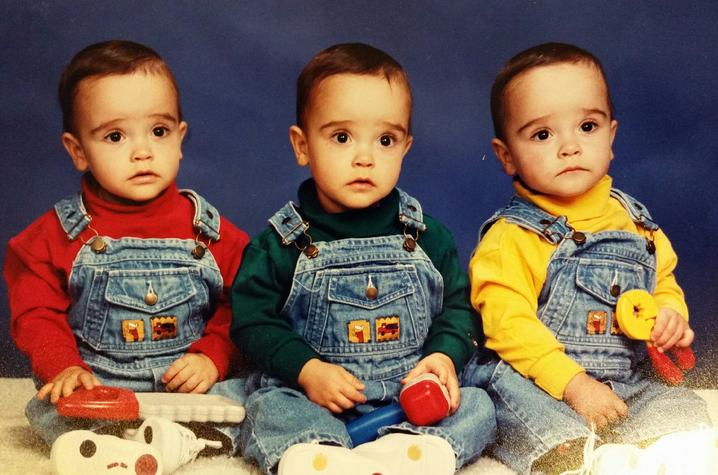 This is a photo of the Childress Triplets