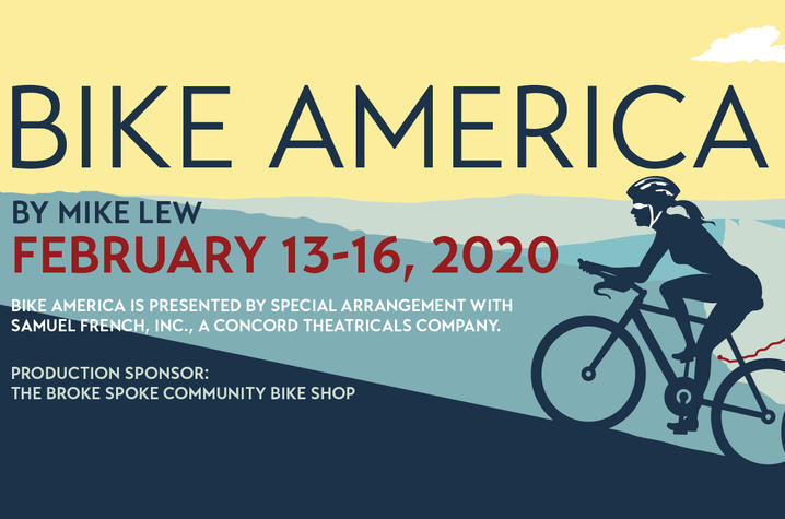 """photo of poster for UK Theatre's """"Bike America"""""""