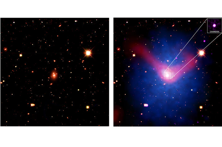 photo of Chandra X-ray observatory image of galaxy cluster
