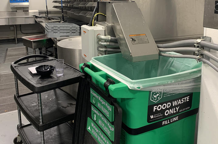 The composting program will be piloted at Champions Kitchen through the summer.