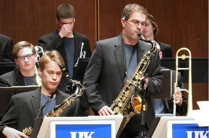 photo of Dieter Rice and UK Jazz Ensemble