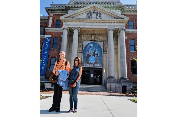 photo of Gary Ferland with Maryam Dehghanian