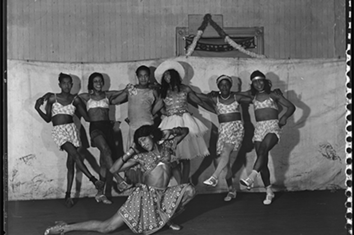 photo of drag performers at Woodland Park Auditorium in the 1930s
