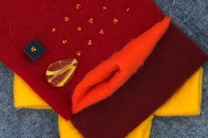image of an embroidery project - Fine Arts Institute
