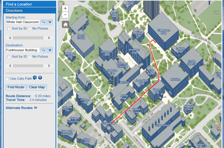map of uk campus Uk Unveils New High Tech Interactive Campus Map Uknow map of uk campus