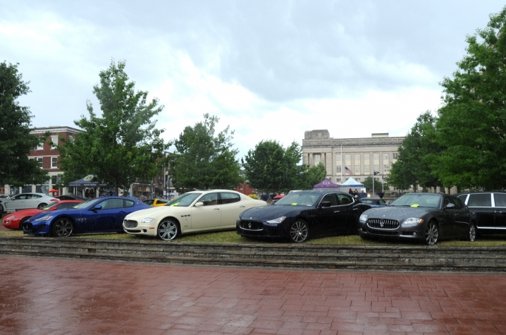 Display Of Clic Cars In Downtown Lexington Marks