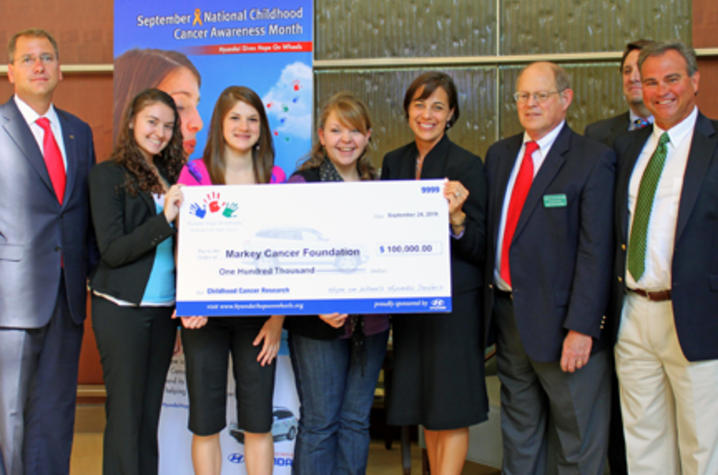 24, 2010) — Local Hyundai dealers and representatives from Hyundai Motor America today presented a Hope Grant in the amount of $100,000 to Markey Cancer ...