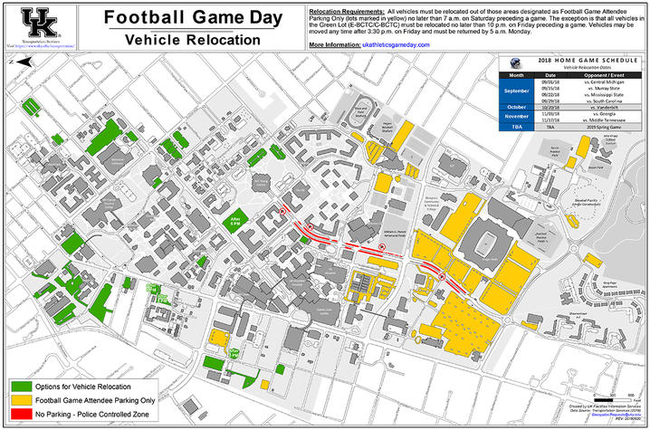 Reminder: Move Vehicles From Kroger Field Lots for Football ...