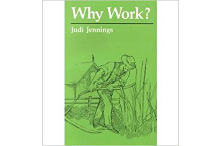 "photo of cover of ""Why Work?"" by Judi Jennings"