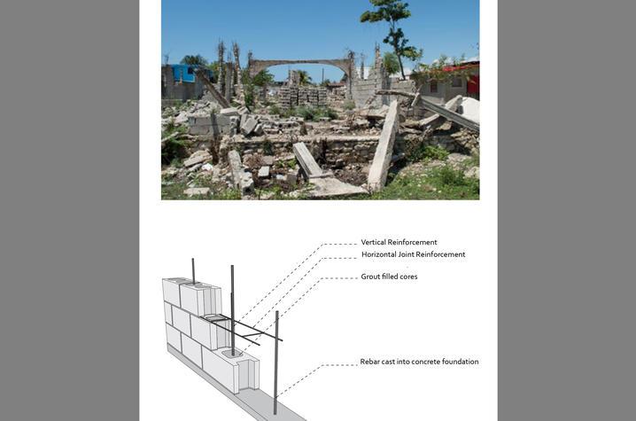 photo of destruction of Haitian orphanage by destruction - element of plans for rebuild