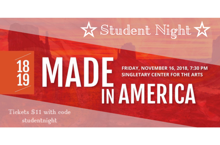 """Made in America"" Student Night artwork"