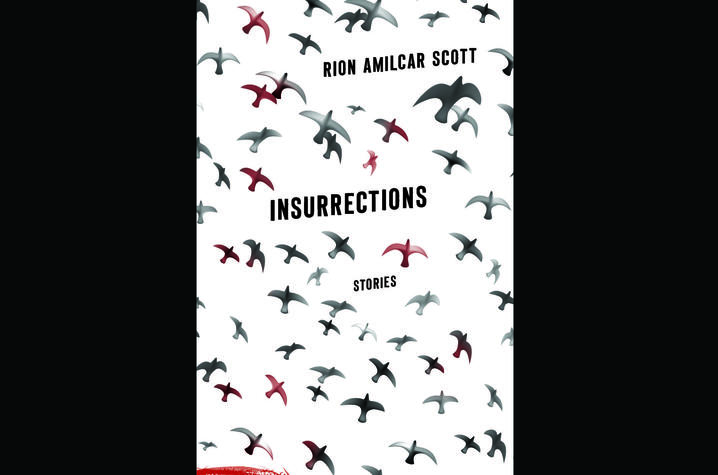 "photo of cover of ""Insurrections: Stories"" by Rion Amilcar Scott"