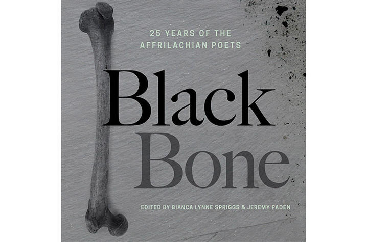 """photo of cover of """"Black Bone: 25 Years of Affrilachian Poets"""""""