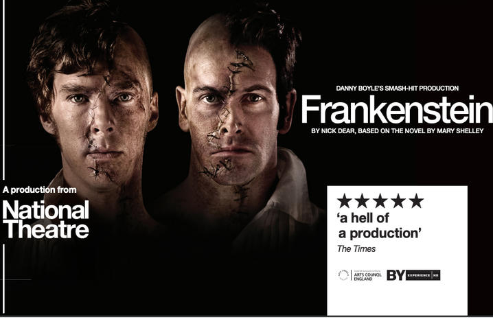 "NTLive's ""Frankenstein,"" featuring Benedict Cumberbatch and Jonny Lee Miller, will be showing 6 p.m. Thursday, Oct. 3."