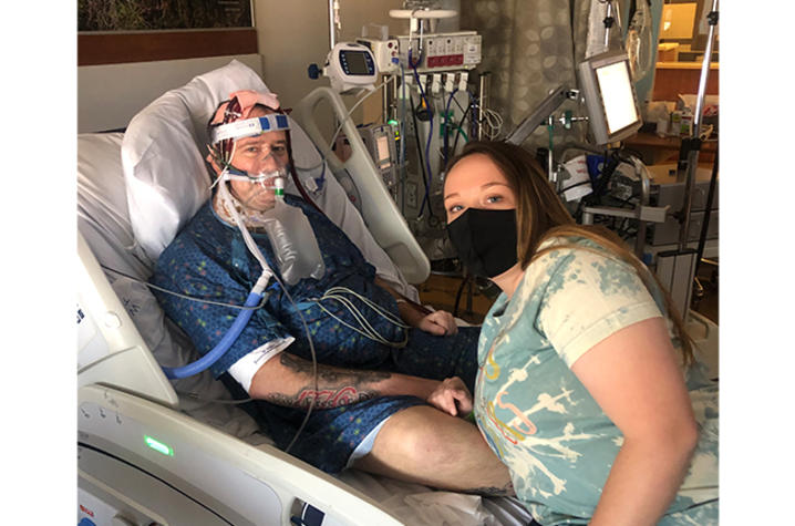 image of Dave and Emily in hospital room