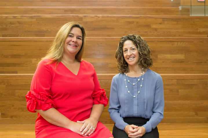 Carrie Oser (left) and Nancy Schoenberg (right)