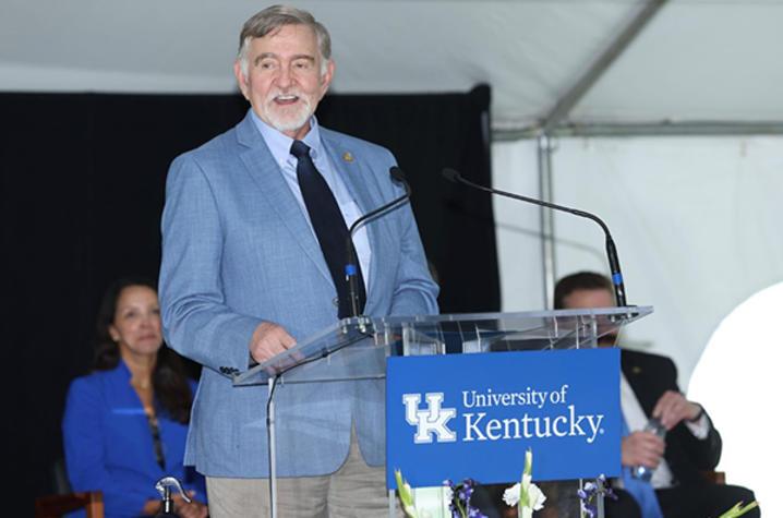 photo of Dr. Michael D. Rankin at podium
