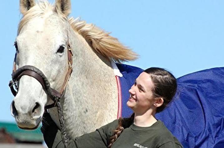 Photo of Julianna Witt with horse