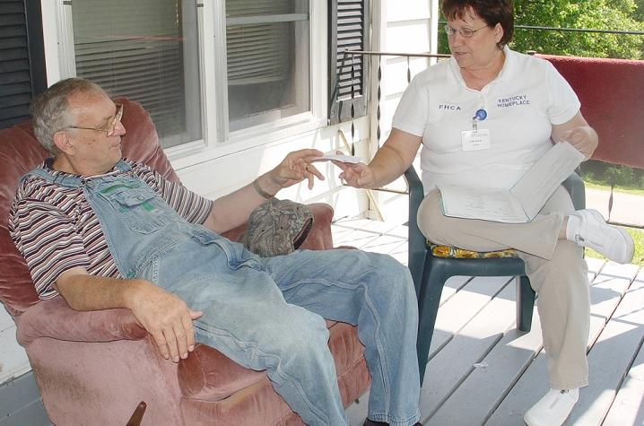 Kentucky Homeplace's Community Health Workers meet with patients throughout rural Eastern Kentucky