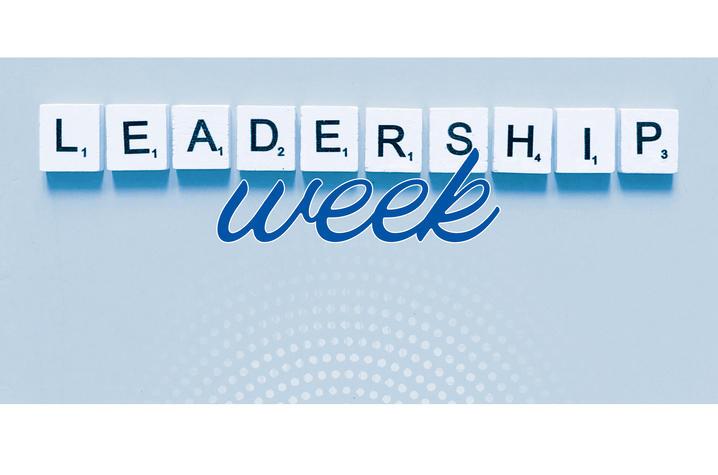 graphic that says Leadership Week