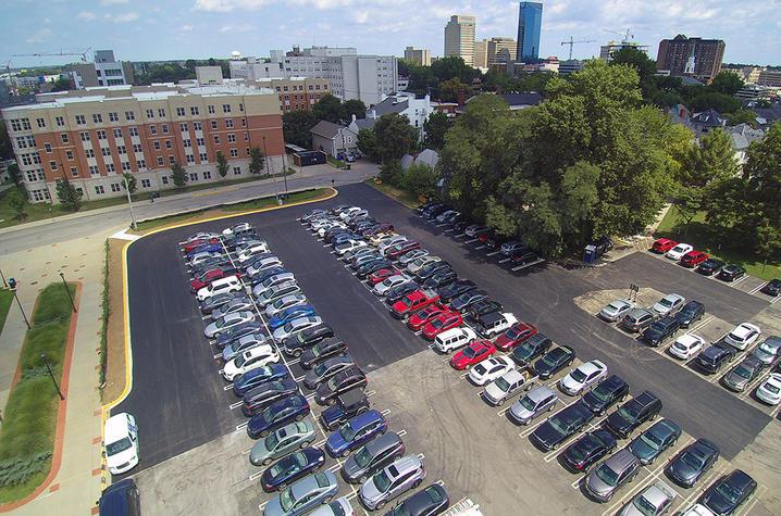 photo of parking behind Joe Craft Center