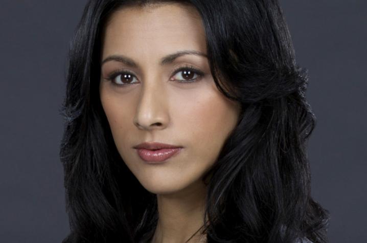 "Reshma Shetty in doctor's coat for ""Pure Genius"" on CBS"