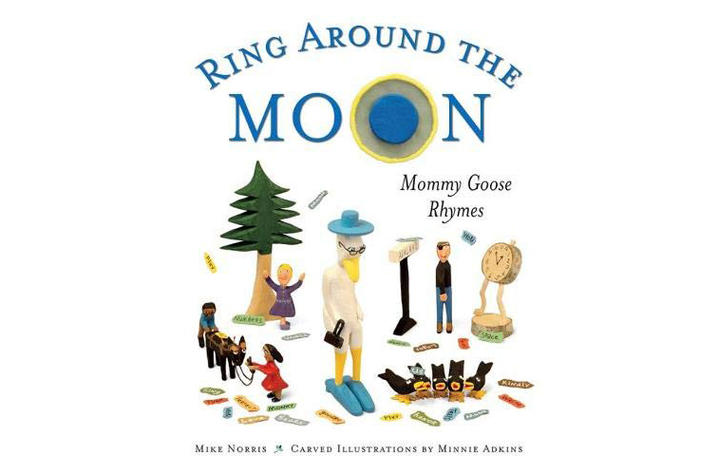 "Detail of book cover for ""Ring Around The Moon: Mommy Goose Rhymes"""