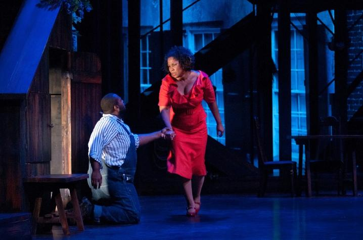 """photo of Michael Preacely and Angelique Clay in UK Opera Theatre's """"Porgy and Bess"""""""