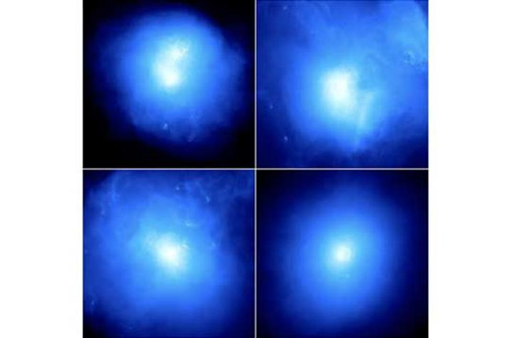 photo of x-ray image of galaxy clusters