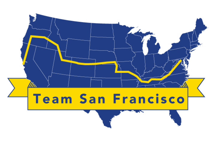photo of map of 4K for Cancer Team San Francisco route