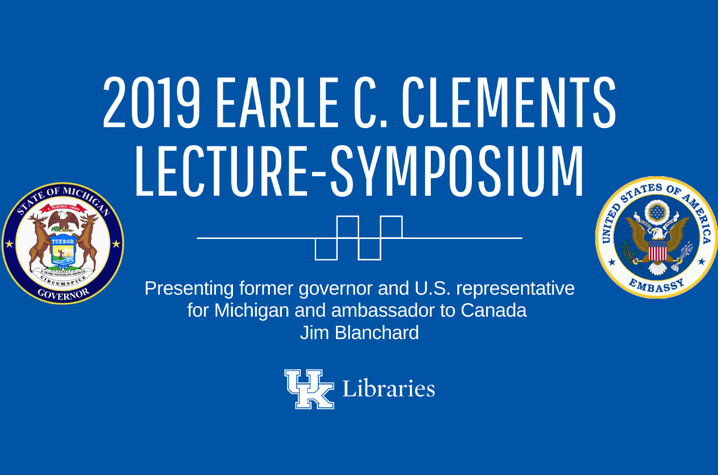 photo of Facebook slide for 2019 Earle C. Clements Lecture-Symposium