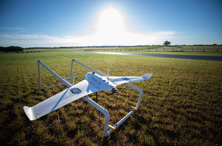photo of UK North Farm with UAV