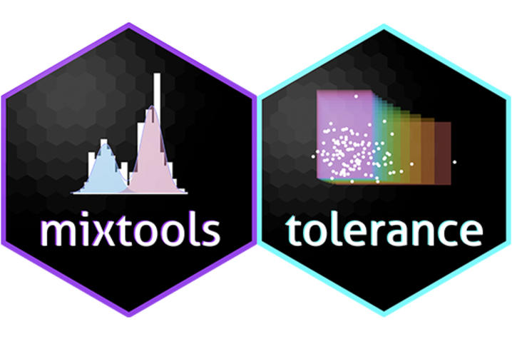 """images of """"mixtools"""" and """"tolerance"""" stickers"""